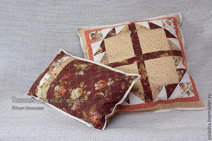 Набор подушек пэчворк Подушки декоративные на диван для дома. Подарок на любой случай женщине коллеге маме свекрови Подушка в подарок на новоселье друзьям Подушка из хлопка