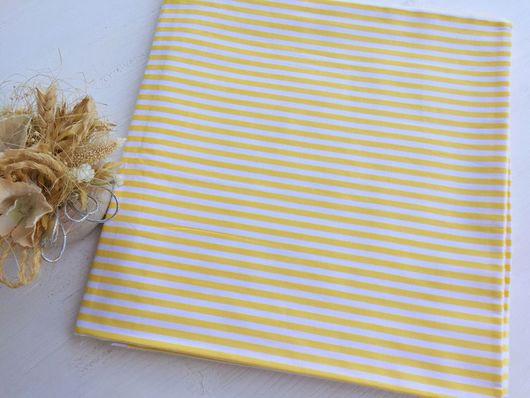 """Шитье ручной работы. Ярмарка Мастеров - ручная работа. Купить Хлопок """"Желтые полоски"""". Handmade. Комбинированный, хлопок для игрушек"""