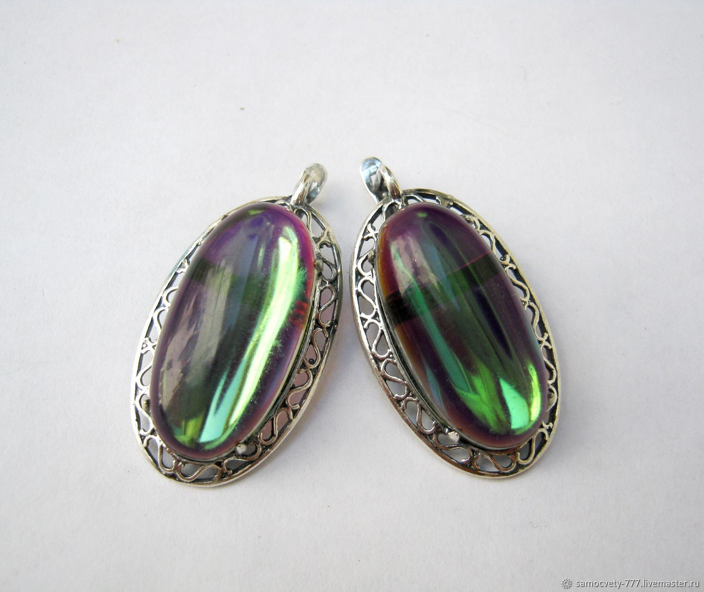 Earrings Handmade Livemaster Silver Opal Mystic