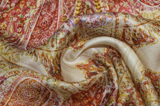 Шитье ручной работы. Ярмарка Мастеров - ручная работа. Купить Натуральный купонный шелк с печатью,1590руб-м. Handmade. Разноцветный