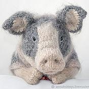 Куклы и игрушки handmade. Livemaster - original item Piggy, piggy, piggy knitted, knitted pig, pig toy. Handmade.