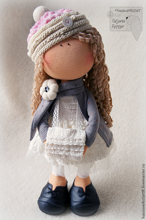 Коллекционные куклы ручной работы. Ярмарка Мастеров - ручная работа. Купить Текстильная кукла Рита. Handmade. Розовый, девочка
