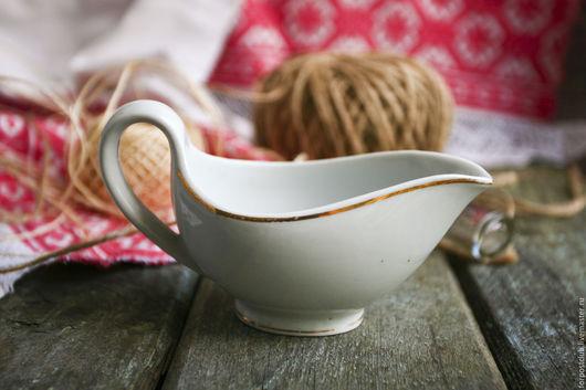 Винтажная посуда. Ярмарка Мастеров - ручная работа. Купить Соусник Дулево 30-е годы. Handmade. Белый, соусник, продаю