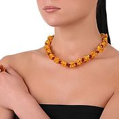 Necklace handmade. Livemaster - original item Amber Bead Necklace natural stone Baltic amber necklace woman. Handmade.