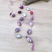 """Украшения ручной работы. Ярмарка Мастеров - ручная работа Бусы """"Розовый камень"""". Handmade."""