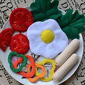 Куклы и игрушки ручной работы. Ярмарка Мастеров - ручная работа Еда из фетра есть другие наборы. Handmade.