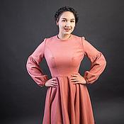 Одежда ручной работы. Ярмарка Мастеров - ручная работа Платье тёплое Пепельная роза. Handmade.
