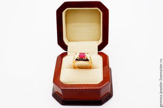 Украшения для мужчин, ручной работы. Ярмарка Мастеров - ручная работа. Купить Золотой перстень магия Мадагаскара. Handmade. Ярко-красный