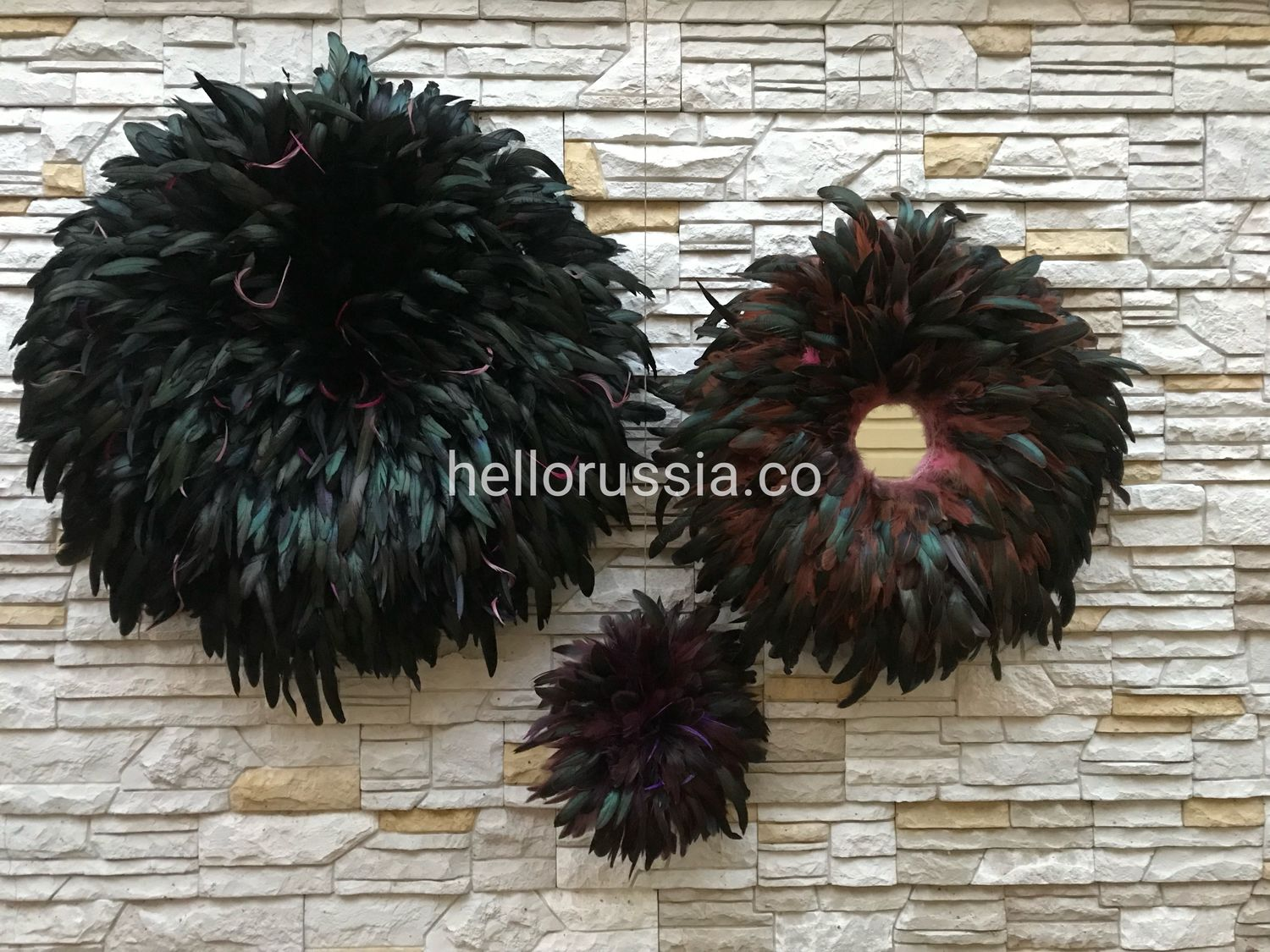 Abstract Art handmade. Livemaster - handmade. Buy Set of feather paintings. Juju hat.  Cameroon hat. Poster. Panels.