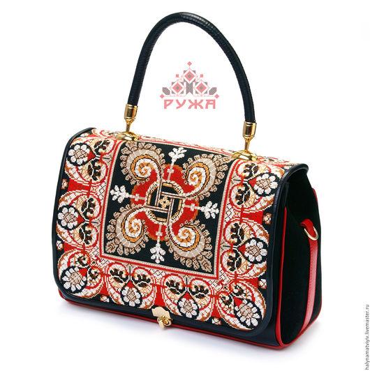 """Женские сумки ручной работы. Ярмарка Мастеров - ручная работа. Купить Сумка """"Красное и черное"""". Handmade. Разноцветный, красное и черное"""