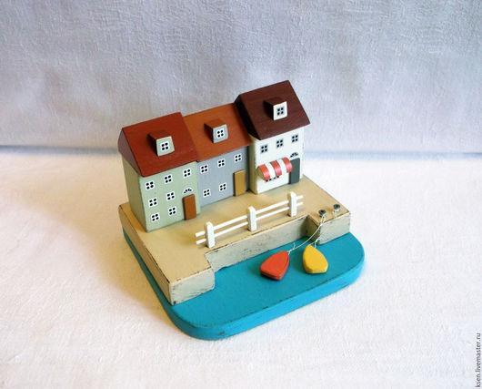"""Миниатюрные модели ручной работы. Ярмарка Мастеров - ручная работа. Купить миниатюра """"У моря"""". Handmade. Комбинированный, домик"""