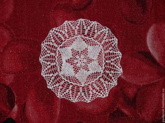 Текстиль, ковры ручной работы. Ярмарка Мастеров - ручная работа. Купить Салфетка крючком № 2. Handmade. Белый