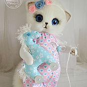 Куклы и игрушки ручной работы. Ярмарка Мастеров - ручная работа Кошечка Ксю игрушка. Handmade.