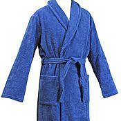 Одежда ручной работы. Ярмарка Мастеров - ручная работа Синие махровые халаты. Handmade.