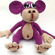 Куклы и игрушки ручной работы. Ярмарка Мастеров - ручная работа Вязаная обезьянка Чикита. Handmade.