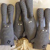 Куклы и игрушки handmade. Livemaster - original item Group in striped bathing suits, hares. Handmade.