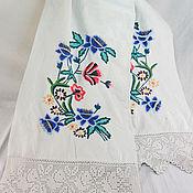 Винтаж handmade. Livemaster - original item Towel embroidered Vintage towel Vintage embroidered towel 50g. Handmade.