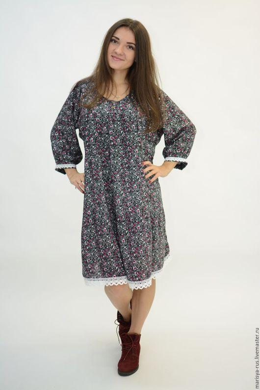 """Платья ручной работы. Ярмарка Мастеров - ручная работа. Купить Платье """"Лада"""" укороченное. Handmade. Темно-серый, короткое платье"""