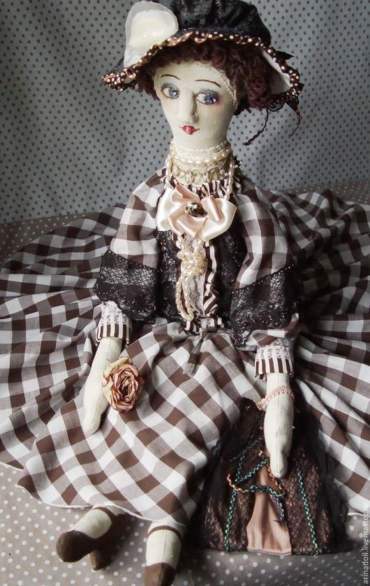 Коллекционные куклы ручной работы. Ярмарка Мастеров - ручная работа. Купить Роза. Handmade. Коричневый, кукла интерьерная, кружева