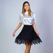 Одежда handmade. Livemaster - original item Skirt, skirt with French lace 2, elegant skirt, MIDI skirt. Handmade.