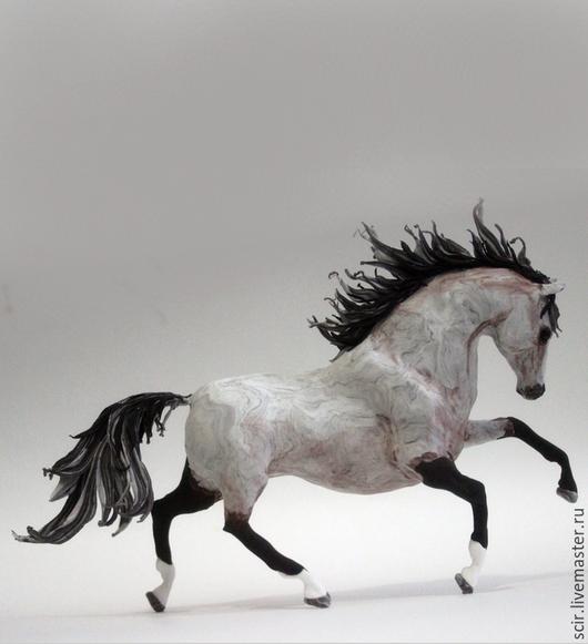"""Статуэтки ручной работы. Ярмарка Мастеров - ручная работа. Купить фигурка """"лошадь серая"""" (статуэтка лошади, статуэтки лошадей). Handmade."""