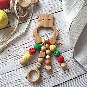 Грызунки, погремушки ручной работы. Ярмарка Мастеров - ручная работа Грызунок, прорезыватель зубов. Handmade.