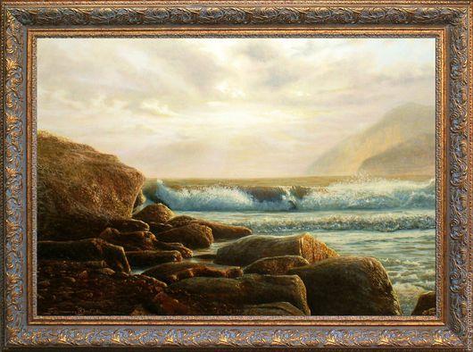Пейзаж ручной работы. Ярмарка Мастеров - ручная работа. Купить .Бурное море-1.картина маслом на холсте.морской пейзаж.классика. Handmade.