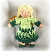 Куклы и игрушки ручной работы. Ярмарка Мастеров - ручная работа вязаная вальдорфская кукла в одежке 18-22см. Handmade.