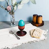 Подарки к праздникам handmade. Livemaster - original item Wooden stand for eggs with the salt shaker Siberian Cedar #ES10. Handmade.