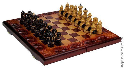 Настольные игры ручной работы. Ярмарка Мастеров - ручная работа. Купить Шахматы, нарды, шашки Войско (11791). Handmade.