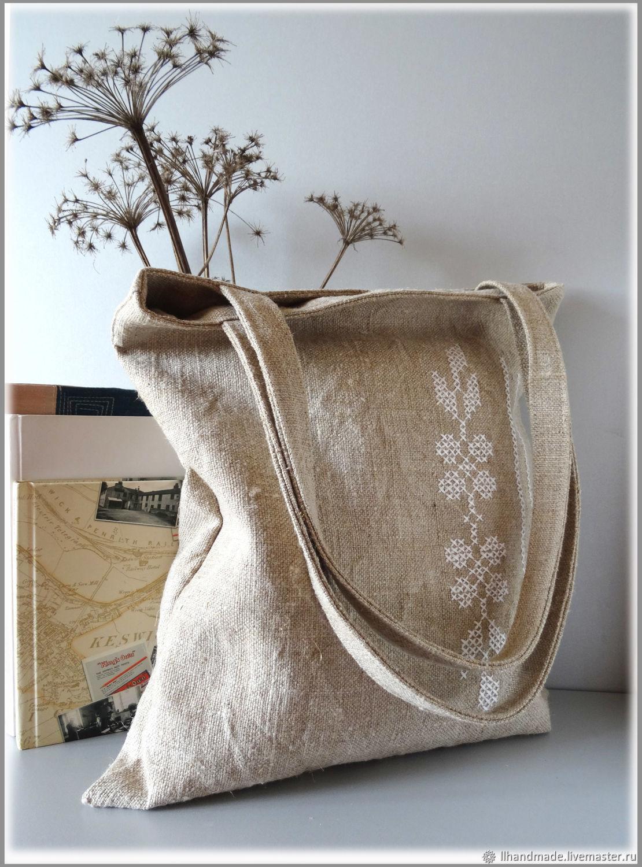 a9fa47d6cdf0 Купить Эко-сумка Сумки и аксессуары ручной работы. Эко-сумка из мешковины  'Тёплое лето' ...