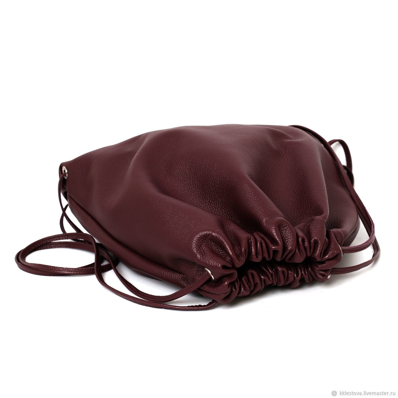 5d4dfe40c3f3 Burgundy soft Leather backpack bag medium Marsala cherry.  BagsByKaterinaKlestova.