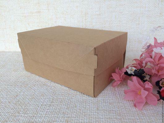 Упаковка ручной работы. Ярмарка Мастеров - ручная работа. Купить Крафт коробка 10х15х7 см. Handmade. Бежевый, крафтовая коробка