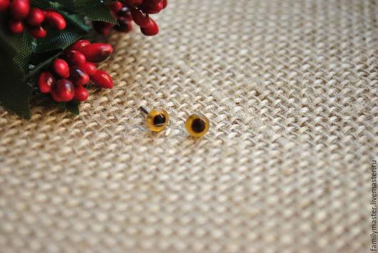 Куклы и игрушки ручной работы. Ярмарка Мастеров - ручная работа. Купить Глаза стеклянные 5мм коричневые. Handmade. Стеклянные глаза