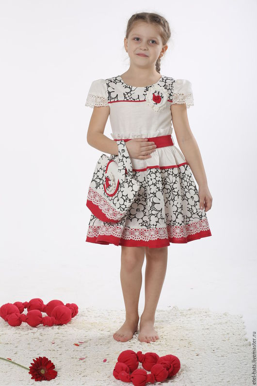 Одежда для девочек, ручной работы. Ярмарка Мастеров - ручная работа. Купить платье для девочки Сюрприз. Handmade. Белый, однотонный, платье