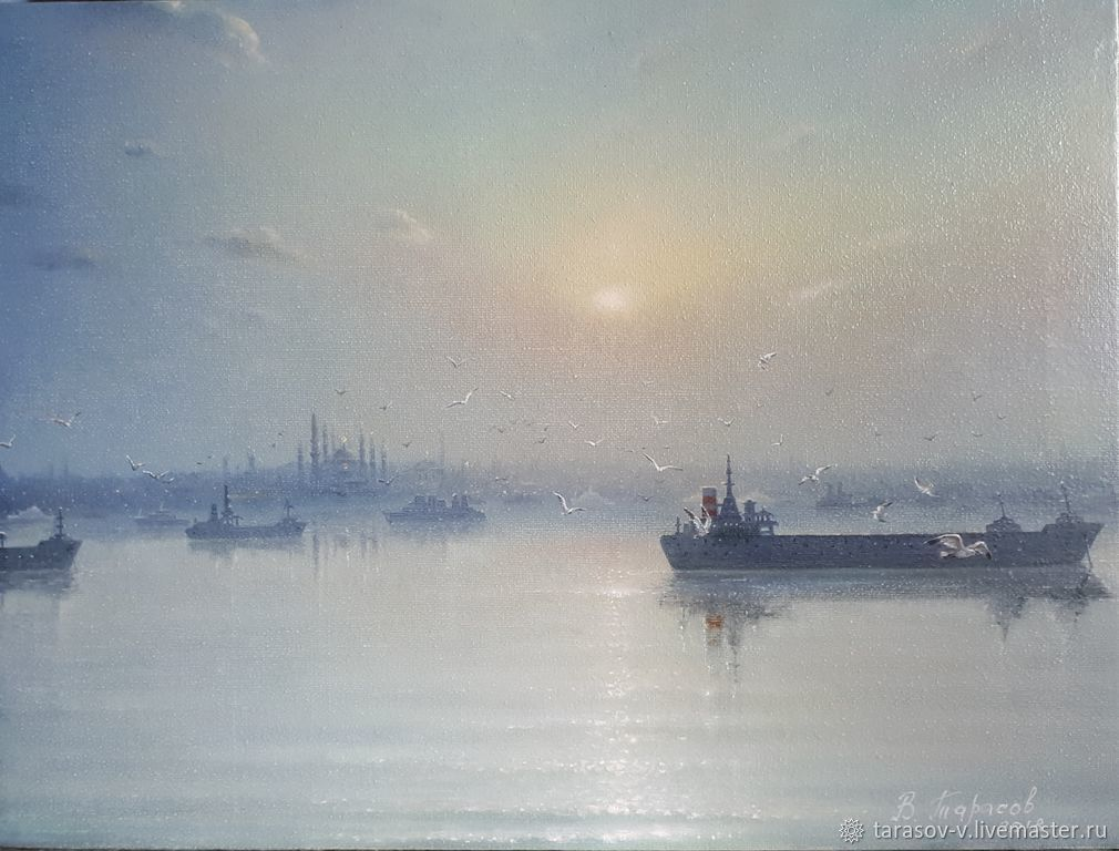 Evening the sea of Marmara to the Golden horn. ( Vladimir Tarasov), Pictures, Moscow,  Фото №1