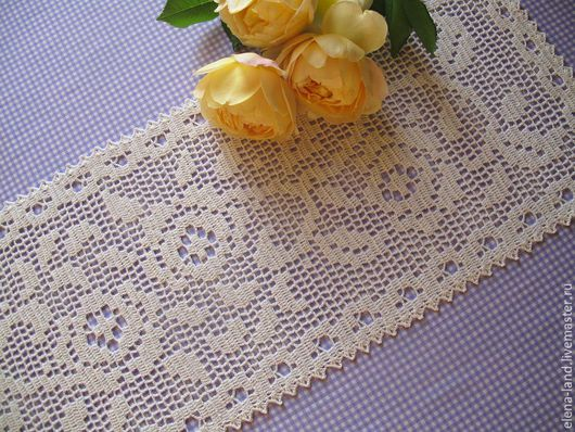 Текстиль, ковры ручной работы. Ярмарка Мастеров - ручная работа. Купить дорожка с плетистыми розами. Handmade. Бежевый