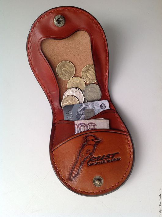 Пояса, ремни ручной работы. Ярмарка Мастеров - ручная работа. Купить кошелёк для мелочи. Handmade. Кошелек из кожи