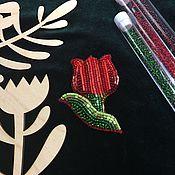 Украшения ручной работы. Ярмарка Мастеров - ручная работа Красный тюльпан. Handmade.