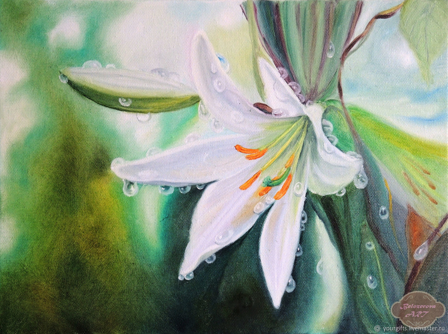 In The Morning Dew Oil Painting Shop Online On Livemaster With