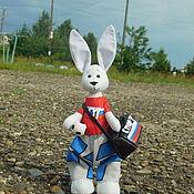 Куклы и игрушки ручной работы. Ярмарка Мастеров - ручная работа Заяц-спортсмен. Handmade.