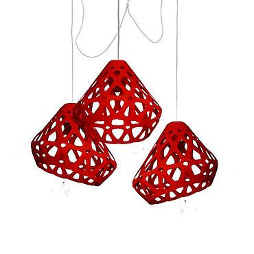 Для дома и интерьера ручной работы. Ярмарка Мастеров - ручная работа ZAHA LIGHT красная трехрожковая люстра. Handmade.