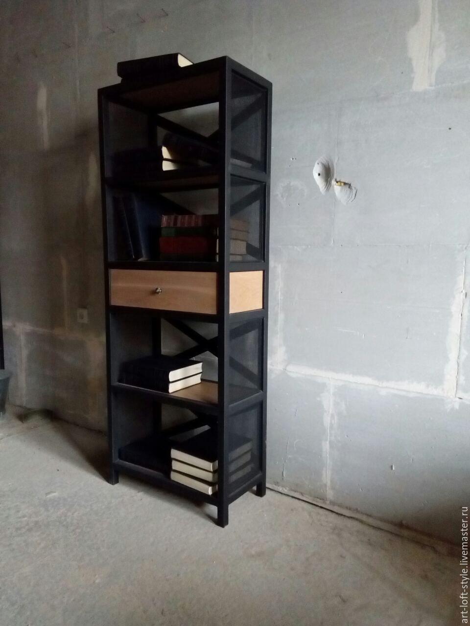 Стильная этажерка в стиле индустриальный лофт. Loft industrial furniture. Купить и заказать стеллаж в индустриальном стиле. Этажерка лофт от производителя.