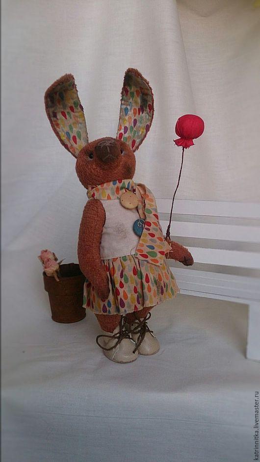 Мишки Тедди ручной работы. Ярмарка Мастеров - ручная работа. Купить Тэдди кролик Тэя.  18см. Handmade. Заяц