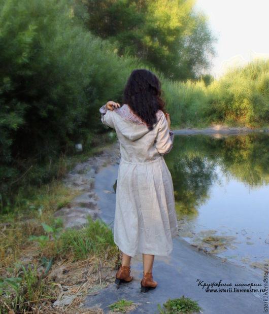 Платья ручной работы. Ярмарка Мастеров - ручная работа. Купить Летнее платье-пальто в стиле бохо. Handmade. Белый
