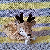 Мягкие игрушки ручной работы. Ярмарка Мастеров - ручная работа Пижамница олененок. Handmade.