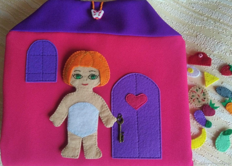 Сумочка-домик для фетровой куклы-одевалки, Кукольные домики, Новомосковск,  Фото №1