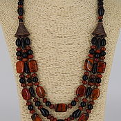Украшения handmade. Livemaster - original item Necklace from natural stones - Jasper, obsidian