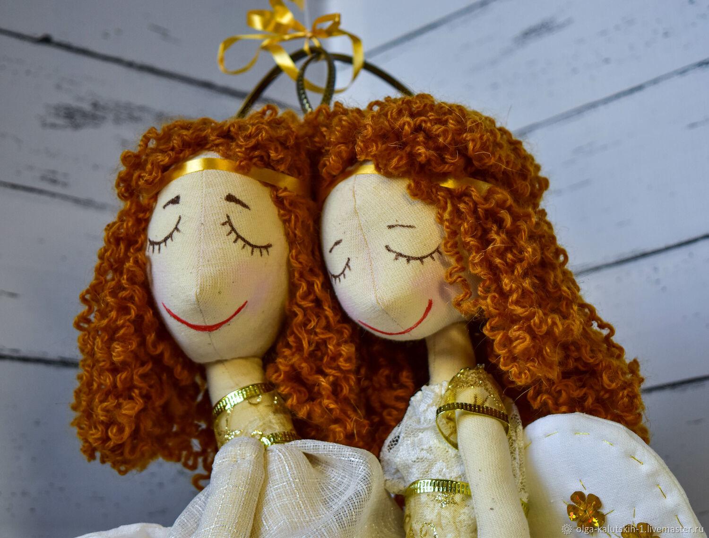 Текстильные куклы Два ангела-хранителя, Куклы и пупсы, Москва,  Фото №1