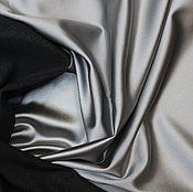 Материалы для творчества ручной работы. Ярмарка Мастеров - ручная работа Плотный атлас-стрейч (ватусса), цвет сталь 1190руб-м. Handmade.